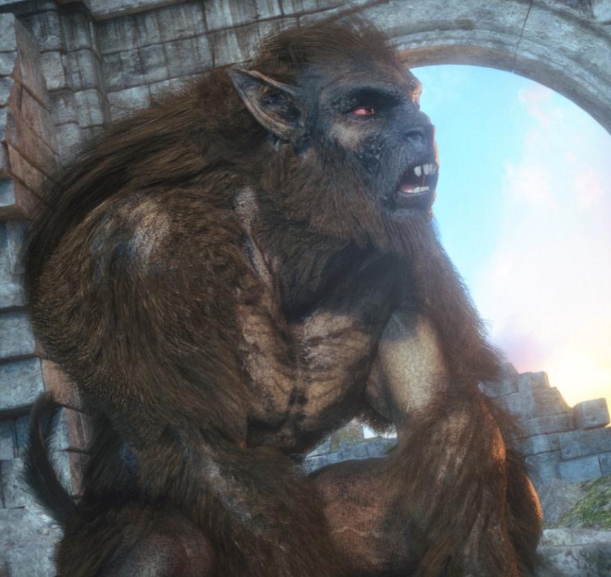 skinchangers for werwolves 3d models