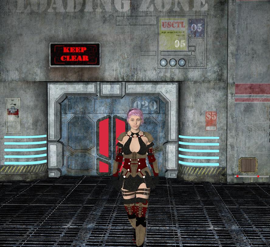 daz3d composition frame character