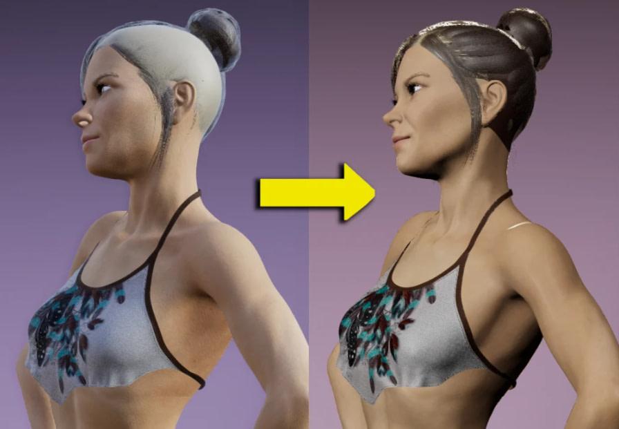 daz3d skin fix shader filament