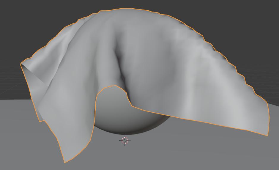 blender cloth vertex mass