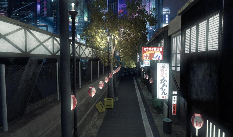 daz 3d city environment night in tokyo