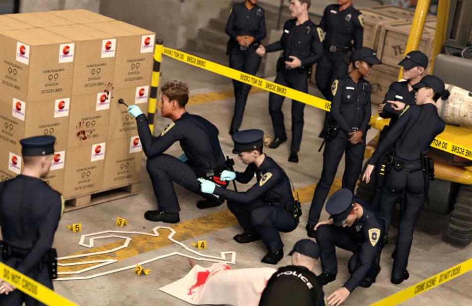 daz3d product billboard models crime scene