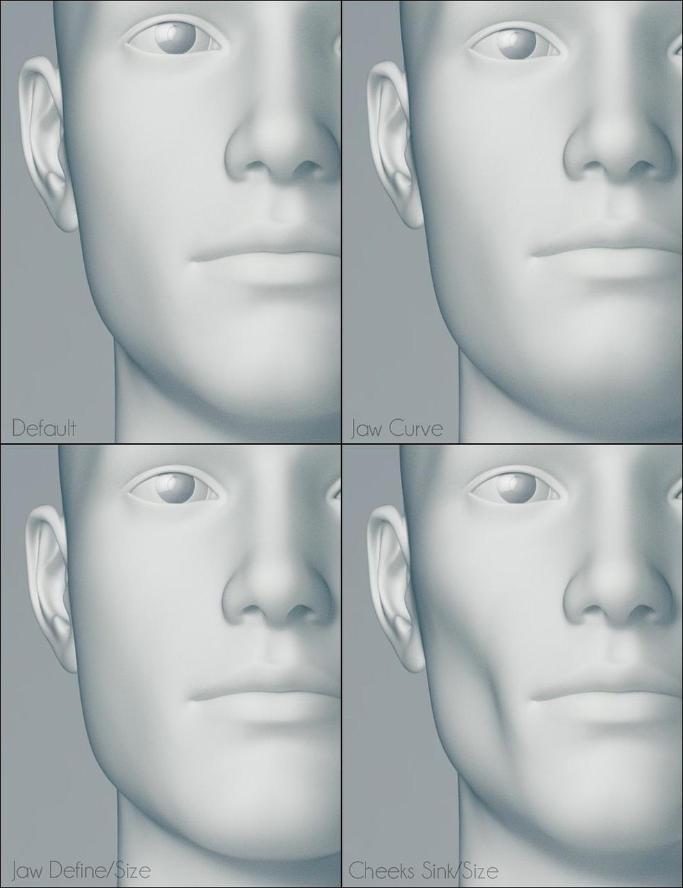daz genesis 3 male head morphs