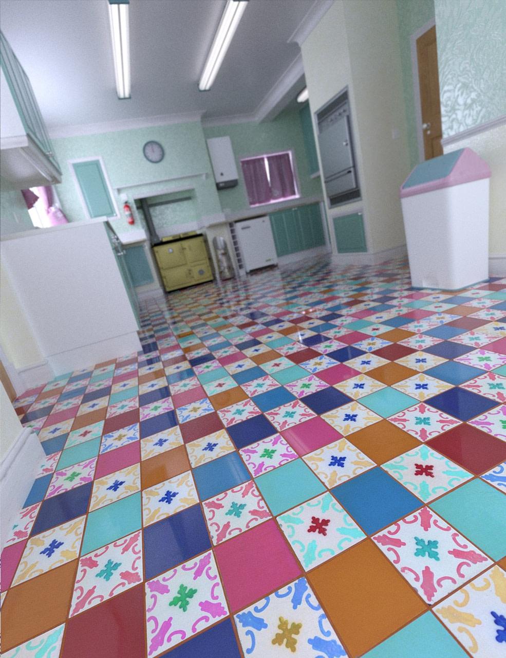 daz patchwork chic floor tile shaders