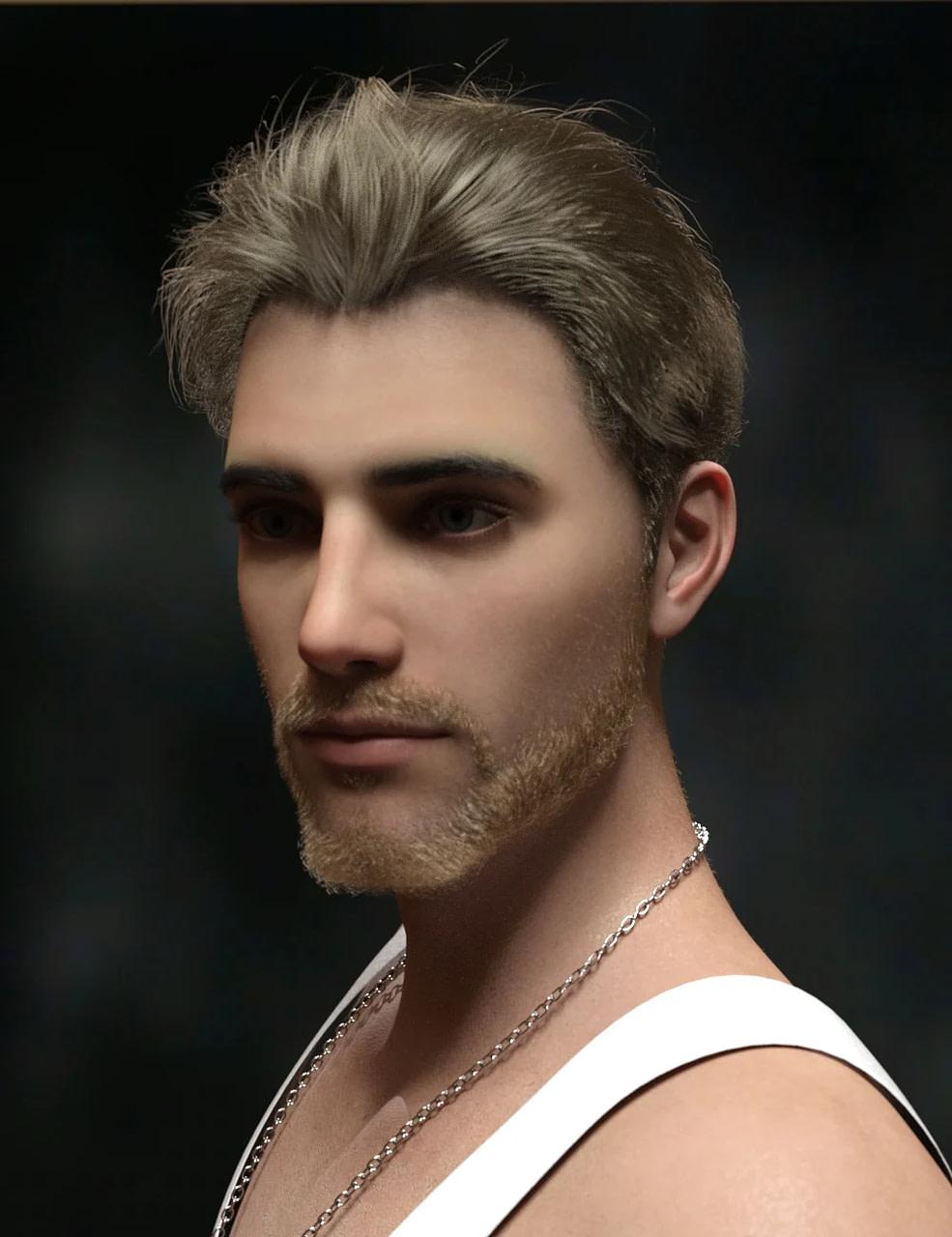 daz studio yoan mature hair and beard