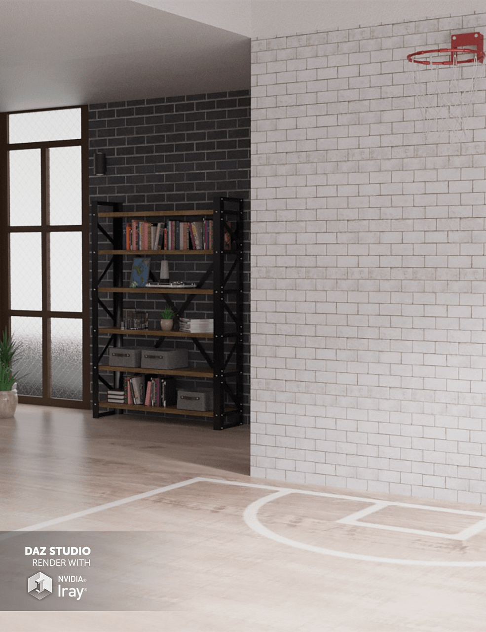 brick wall shaders highlighted in our daz3d texture tutorial