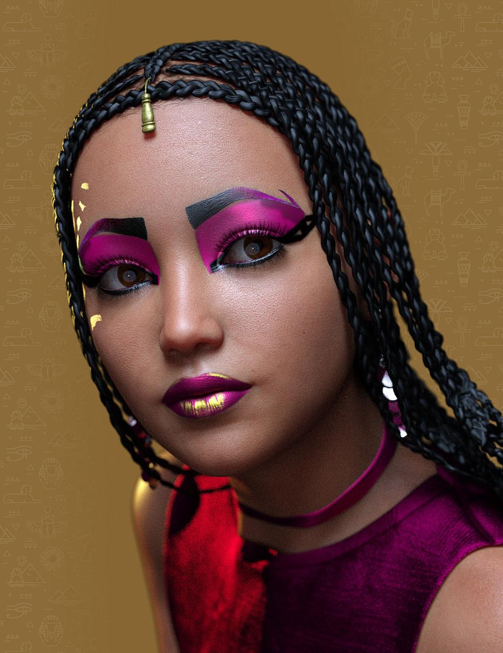 daz3d extreme closeup cleo style geoshell makeups