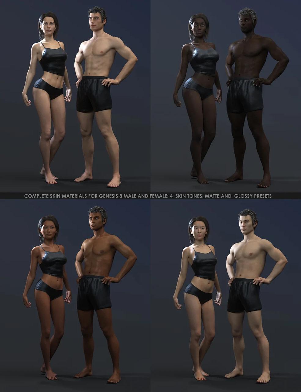 daz3d octane render kit skin