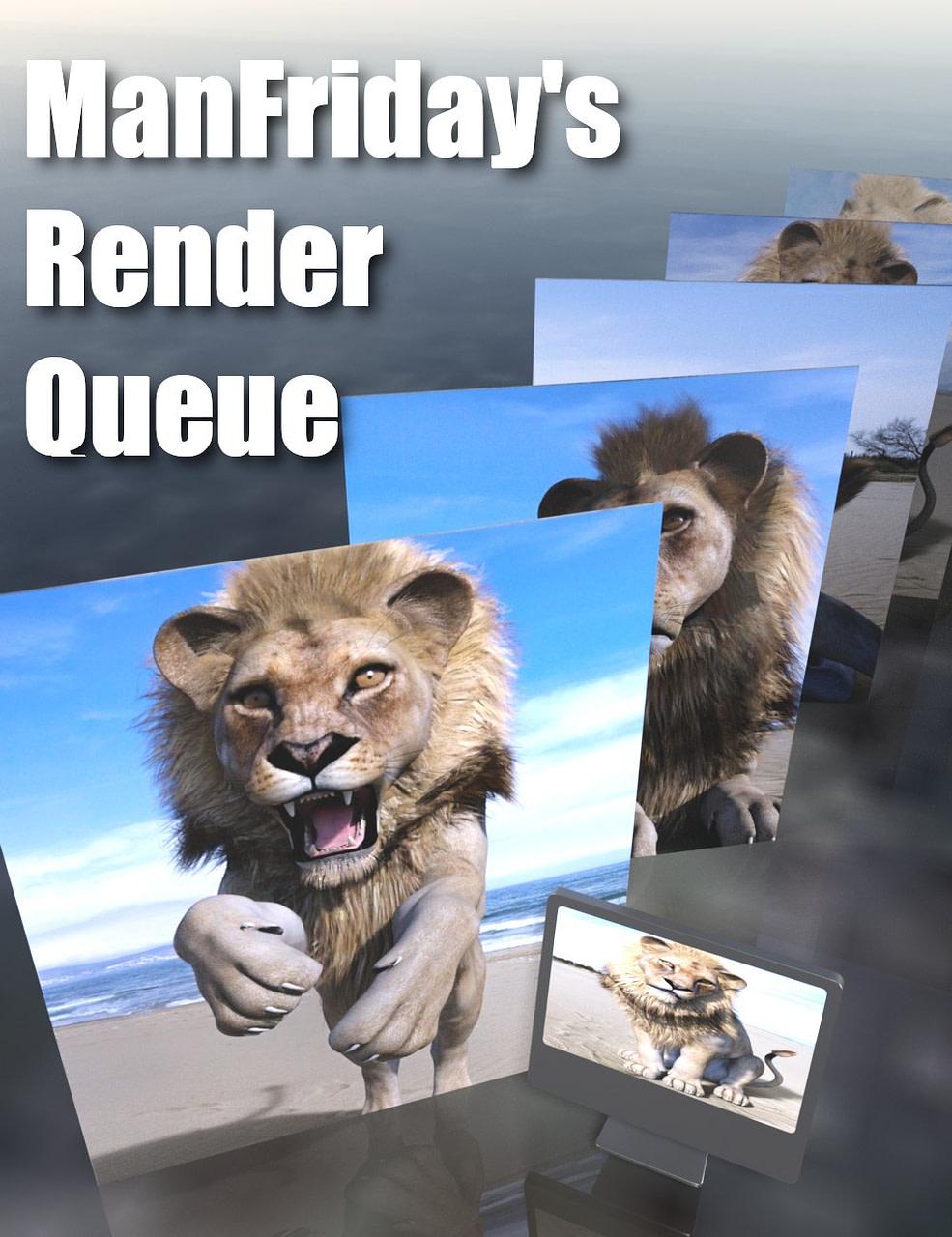 daz3d render queue