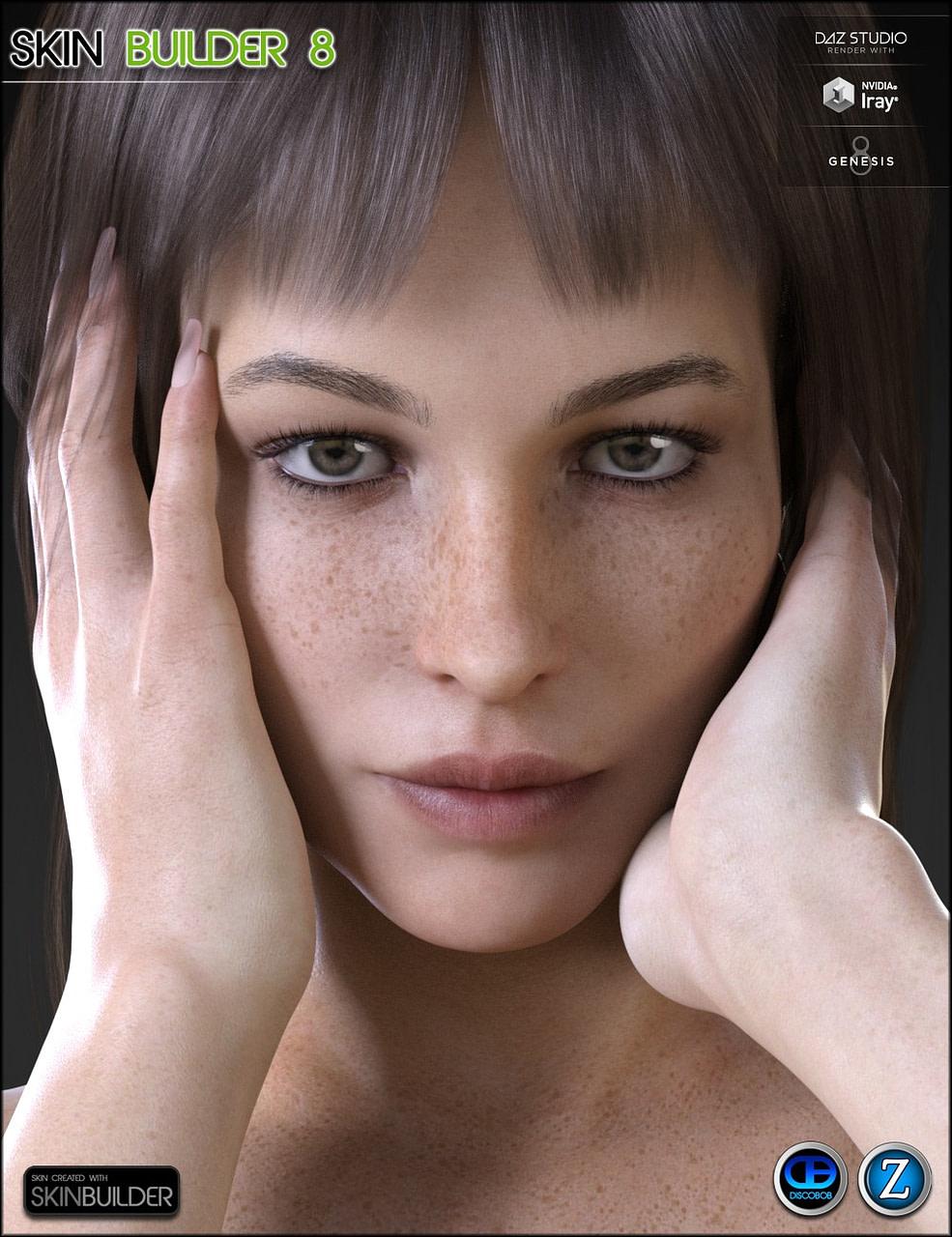 Realistic skin for daz genesis 8 female