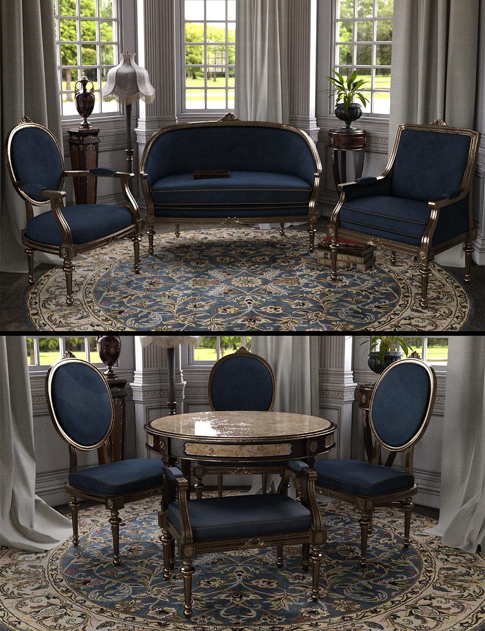 daz3d vintage furniture iray
