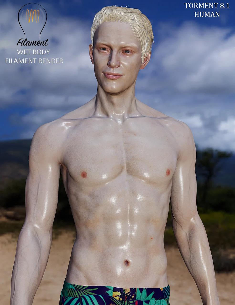 daz3d wet body filament