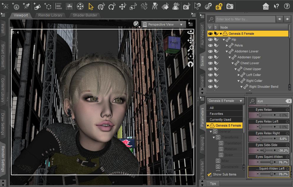 daz3d morph customize character facial features