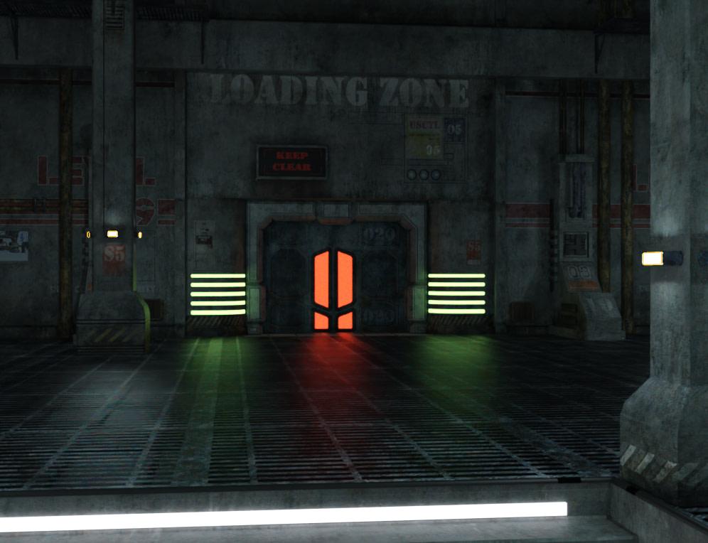 daz3d indoor emissive lighting