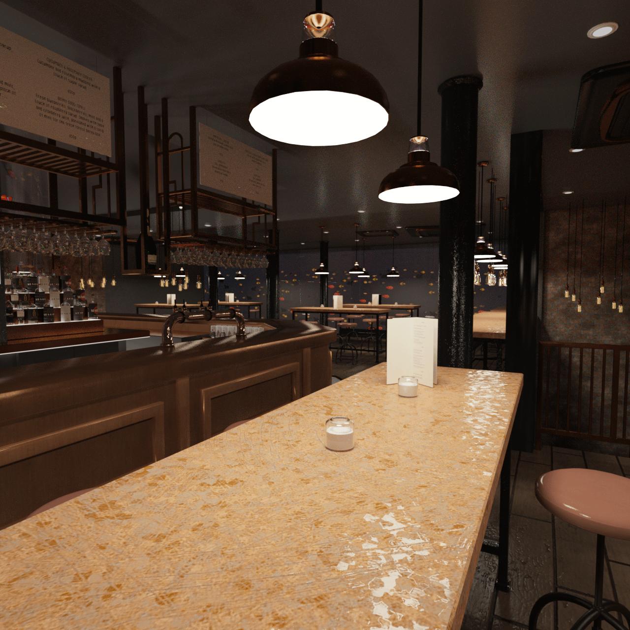 beautiful bar 3d model
