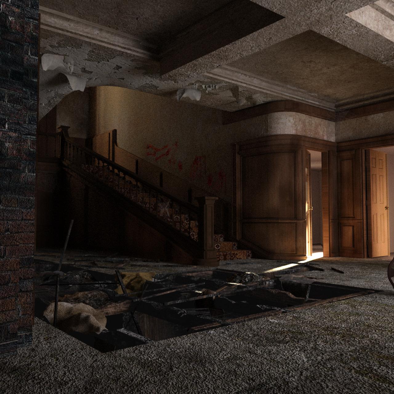 horror house 3d model