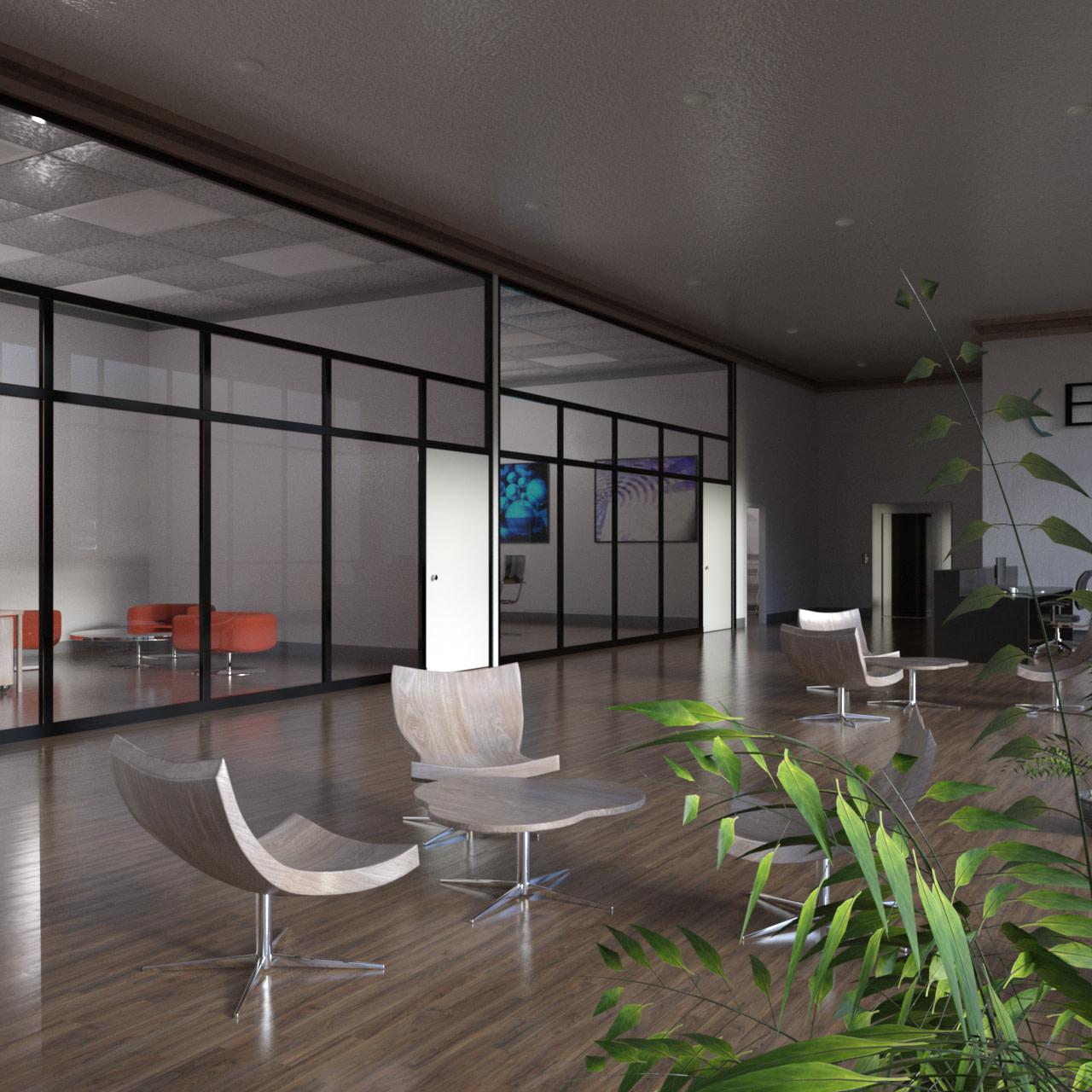 stylish office 3d model