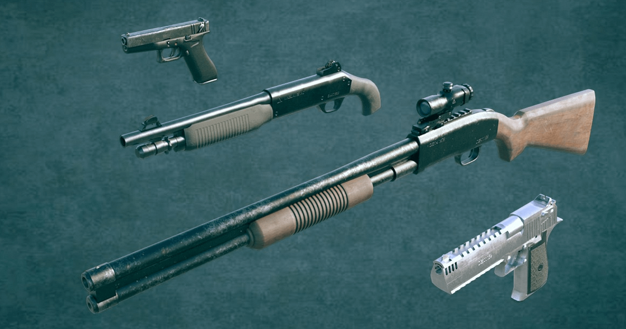 3d renders of gangster weapons in daz studio