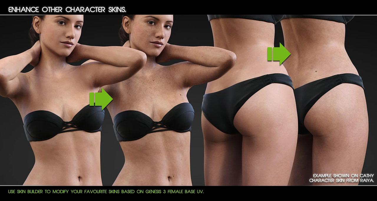 daz3d genesis 3 skin builder