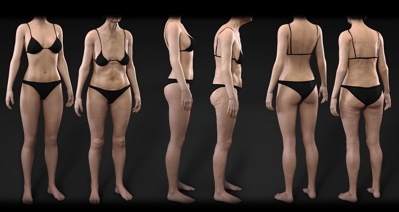 daz3d female aging morphs