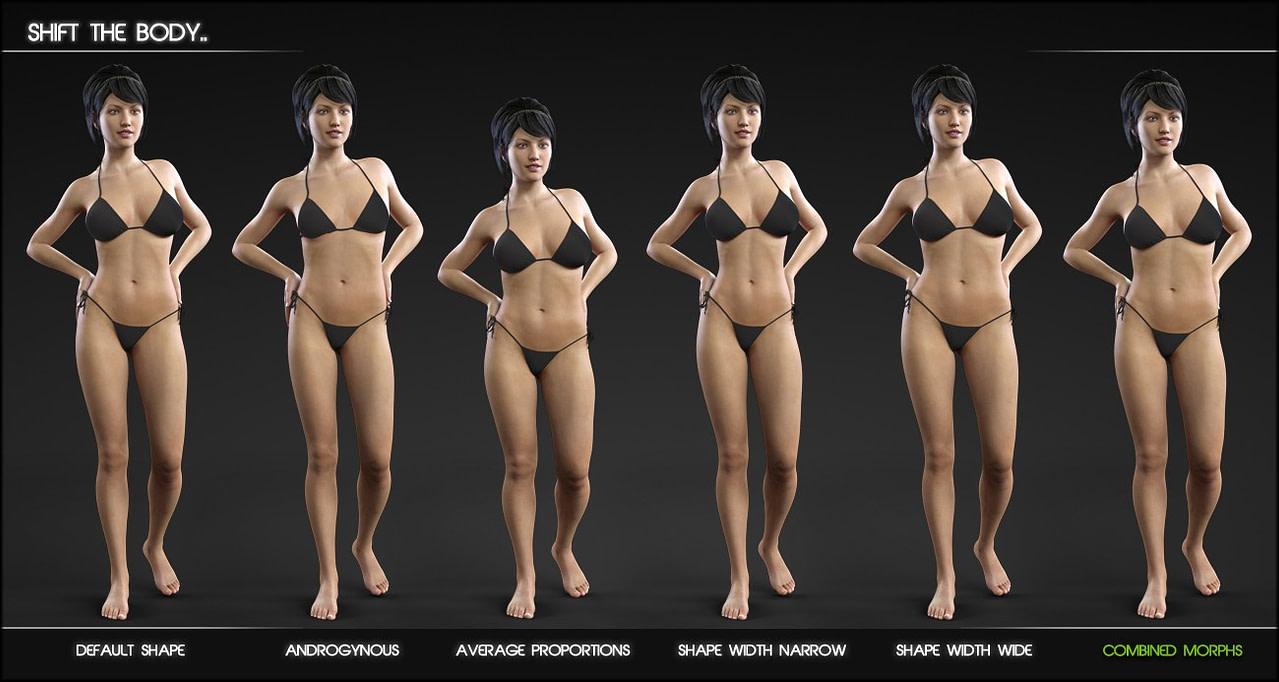 shape shift morphs for genesis female 3