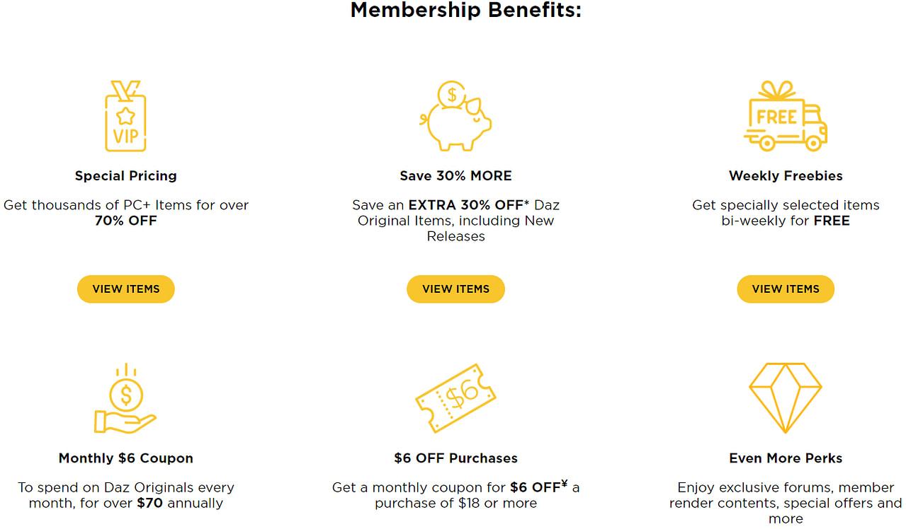 daz3d platinum membership benefits