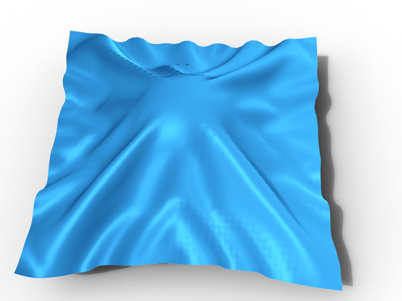 Simulated cloth with dforce in daz studio