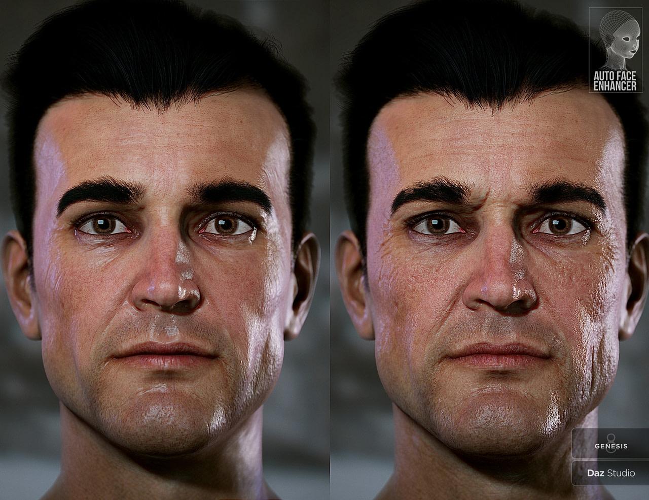 Additional face details by Face Enhancer for daz