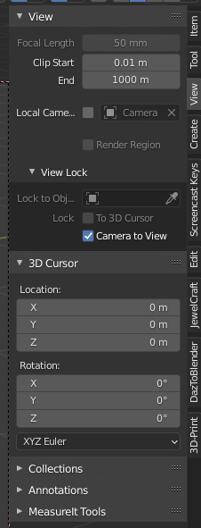 Blender camera to view