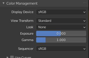 blender rendering color management