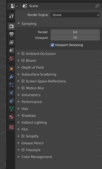 blender rendering eevee settings