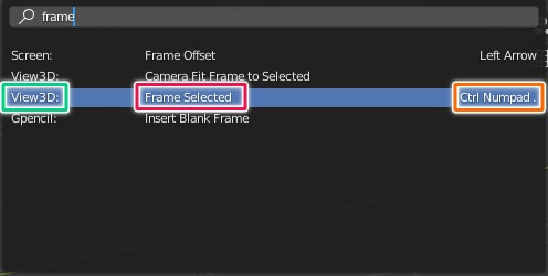 blender search window