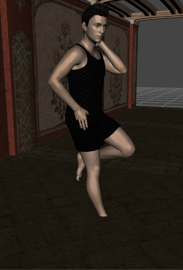 daz3d how to pose a character