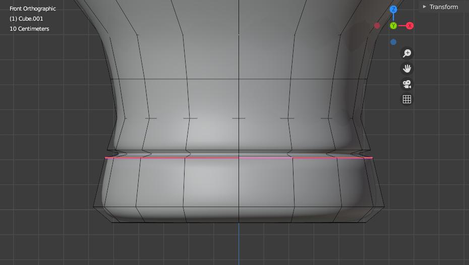 blender tube edge crease metal ring