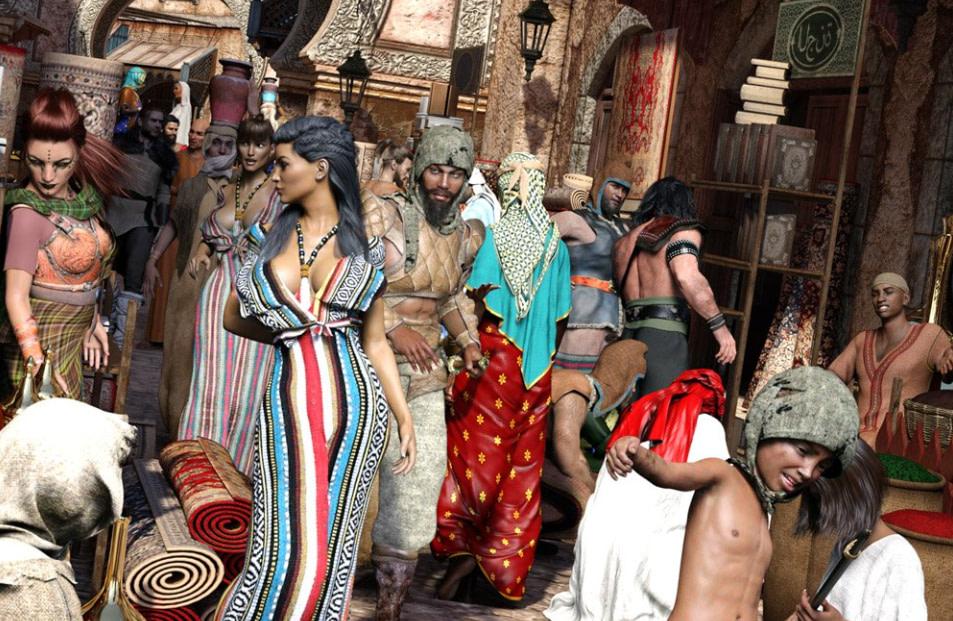 daz3d product billboard models ancient world culture