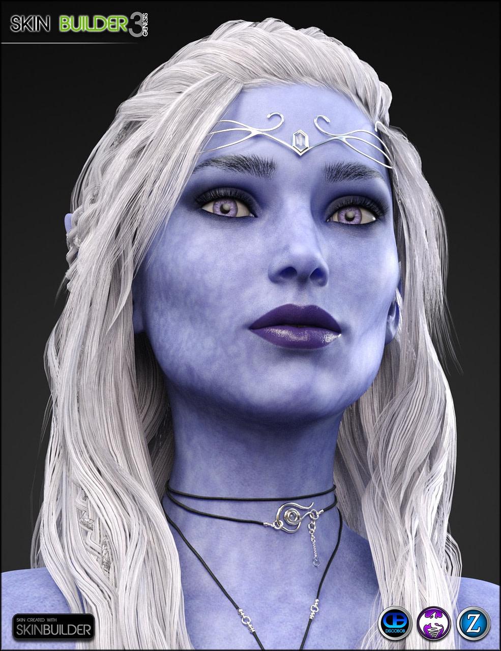 daz elf with blue skin