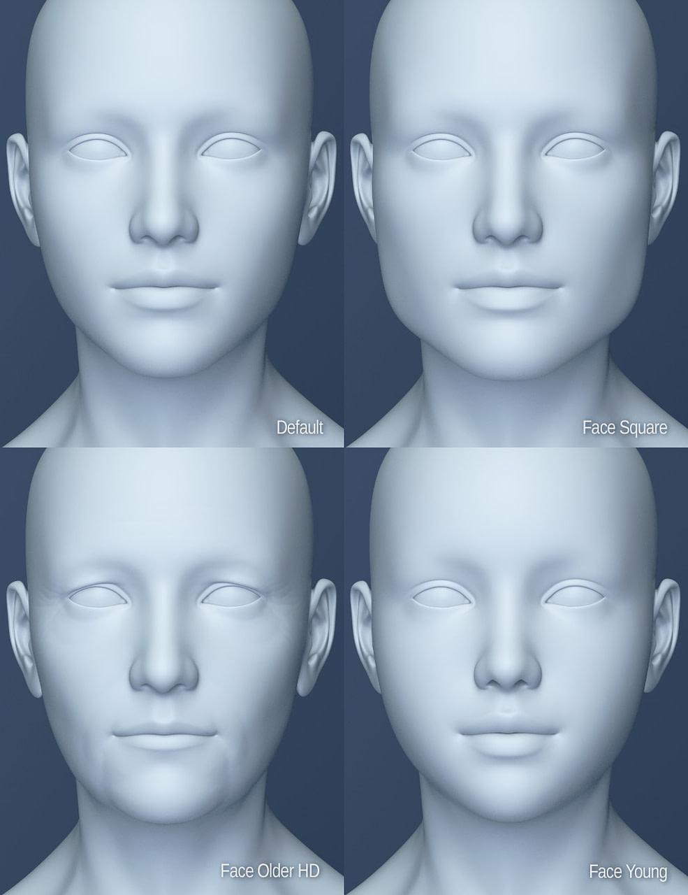 daz3d genesis 8 figure head morphs