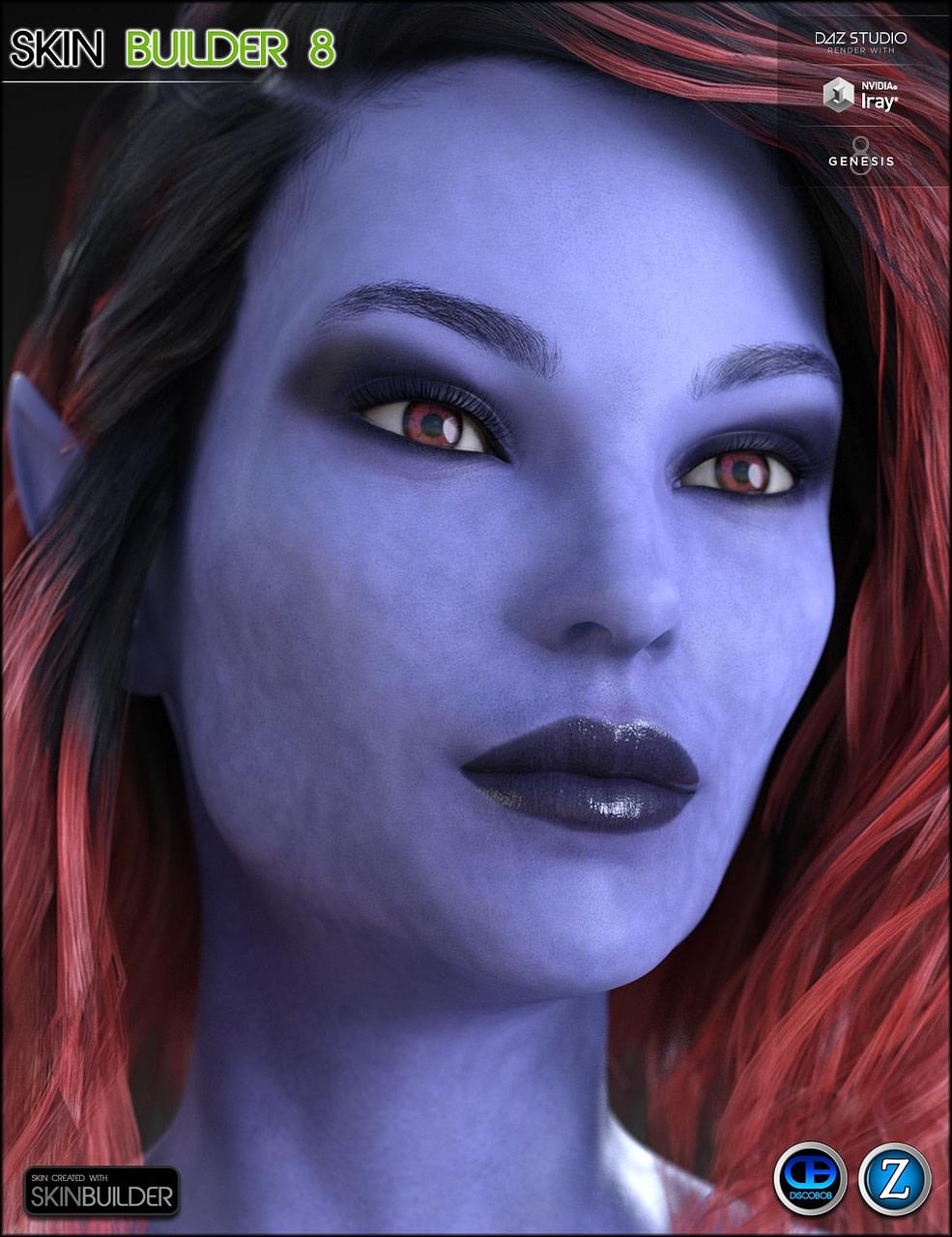 Fantasy skin for daz genesis 8 female